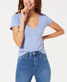 Ultra Flirt Juniors' Rib-Knit V-Neck T-Shirt