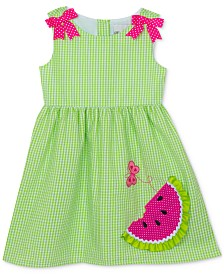 Rare Editions Baby Girls Watermelon Gingham Dress