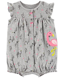 Carter's Baby Girls Flamingo Cotton Romper