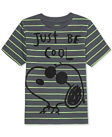 Peanuts Little Boys Snoopy Stripe T-Shirt