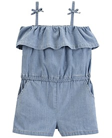 Carter's Toddler Girls Cotton Chambray Romper