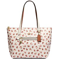 Deals on COACH Fruit Print Taylor Tote
