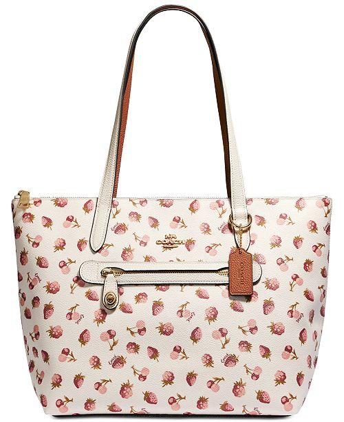 c3ec47defaa COACH Fruit Print Taylor Tote   Reviews - Handbags   Accessories ...