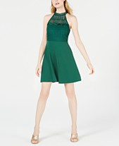 cfe41406 19 Cooper Lace-Neck Fit & Flare Dress