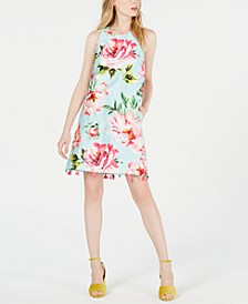 Floral T-Back Sheath Dress