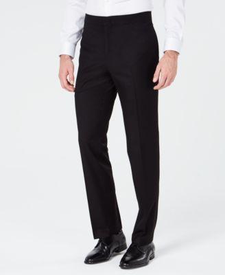 Men's Slim-Fit Stretch Black Tuxedo Suit Pants, Created for Macy's