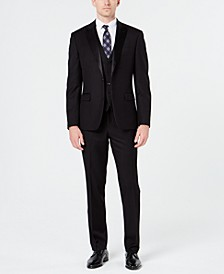 Men's Slim-Fit Stretch Black Tuxedo Suit Separates, Created for Macy's