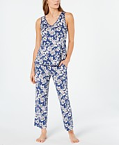 cdd4527b27 Charter Club Knit Tank And Cropped Pant Pajama Set, Created for Macy's
