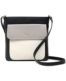 Tula England Colorblocked Leather Crossbody