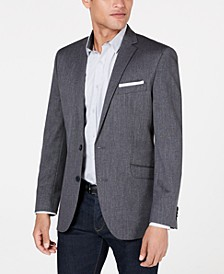 Men's Slim-Fit Mini Grid Sport Coat