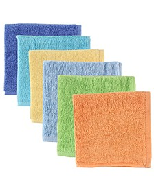 Luvable Friends Washcloths, 6-Pack, One Size