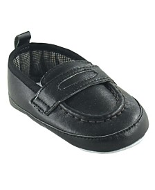 Luvable Friends Slip-on Shoes, Black, 0-18 Months