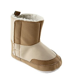 Luvable Friends Baby Faux Suede Winter Boots, Tan, 6-12 Months