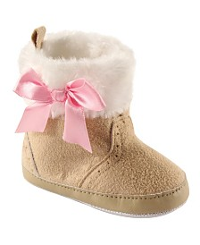 Luvable Friends Winter Boots with Bow, 0-18 Months