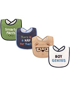 Luvable Friends Drooler Bibs, 4-Pack, One Size