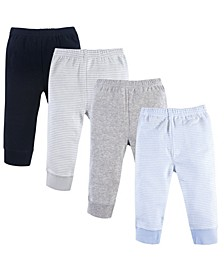 Tapered Ankle Pants, 4-Pack, 0-24 Months