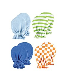 Luvable Friends Scratch Mittens, 4-Pack,0-6 Months
