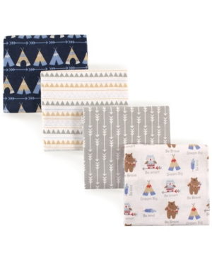 Luvable Friends Flannel Receiving Blankets, 4-pack, One Size In Multi