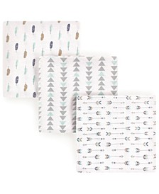 Flannel Receiving Blankets, 3-Pack, One Size