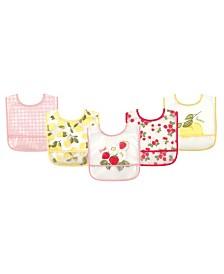 Hudson Baby Waterproof Bibs, 5-Pack, One Size