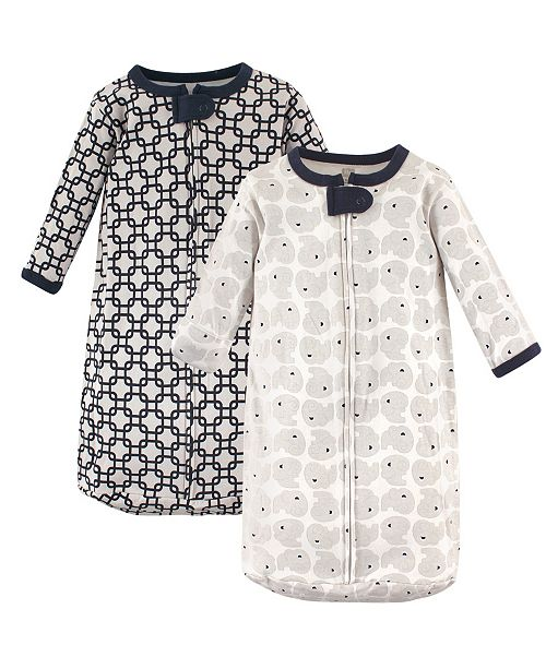 Hudson Baby Long Sleeve Cotton Sleeping Bag, 2-Pack, 0-3 Months
