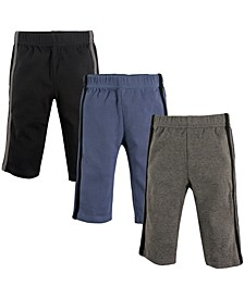 Baby Athletic Pants, 3-Pack, 0-24 Months