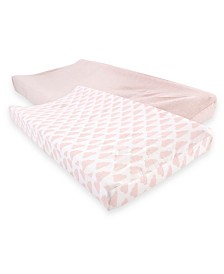Hudson Baby Changing Pad Cover, 2-Pack, One Size