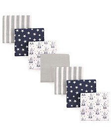 Hudson Baby Flannel Receiving Blankets, 7-Pack, One Size
