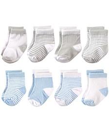 Basic Crew Socks, 8-Pack, 0-24 Months