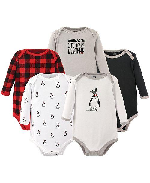 63377e25f24b ... Baby Vision Hudson Baby Long-Sleeve Bodysuits, 5-Pack, Penguin, 0 ...