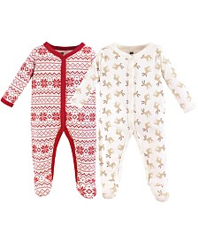 Hudson Baby Cotton Union Suit, 2-Pack, 0-9 Months