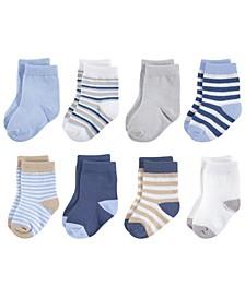 Organic Basic Socks, 8-Pack, 0-24 Months