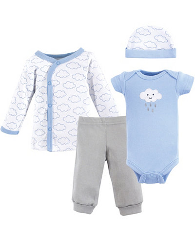 Luvable Friends Preemie Pants, Bodysuits, Shirt, Cap, 4-Piece Set, Premie