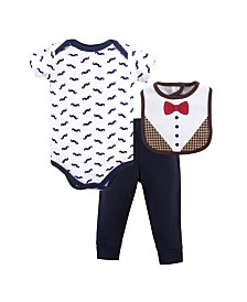 Hudson Baby Bodysuits, Pants and Bibs Set, 0-12 Months