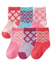 Hudson Baby Socks Gift Set, 6-Pack, 0-24 Months