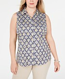 Charter Club Plus Size Printed Top Created for Macys