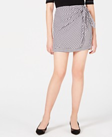 Maison Jules Side-Tie Pull-On Skirt, Created for Macy's