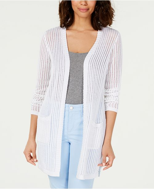 Charter Club Vertical-Stitch Completer Sweater, Created for Macy's
