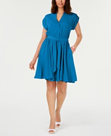 Charter Club Petite Belted Dress, Created for Macy's