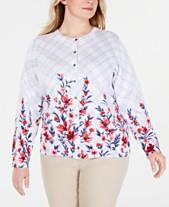 5de8fd1df35 Karen Scott Plus Size Liberty Dream Cardigan Sweater