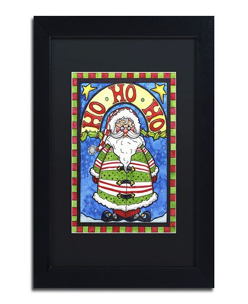 "Trademark Global Jennifer Nilsson HoHoHo Matted Framed Art - 11"" x 14"" x 0.5"""