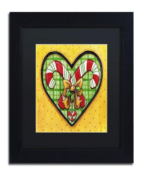 """Trademark Global Jennifer Nilsson Candy Cane Heart Matted Framed Art - 16"""" x 20"""" x 0.5"""""""