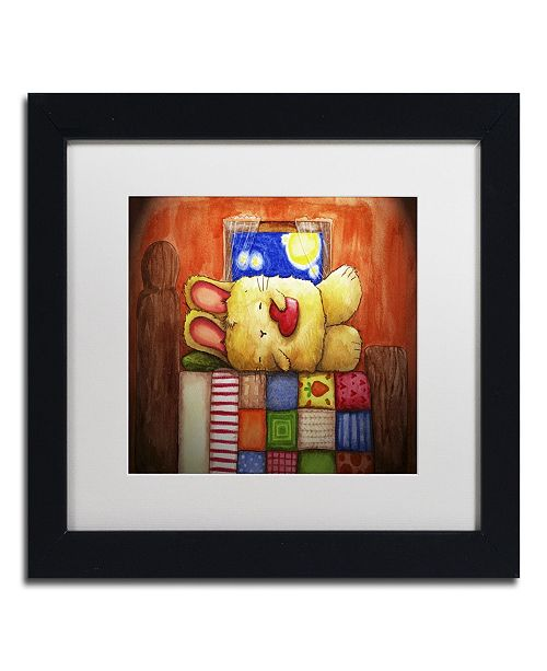 "Trademark Global Jennifer Nilsson Sweet Dreams Bunny Matted Framed Art - 16"" x 20"" x 0.5"""