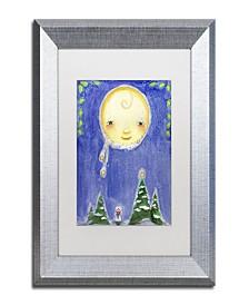 "Jennifer Nilsson Holiday Moon Matted Framed Art - 24"" x 32"" x 2"""