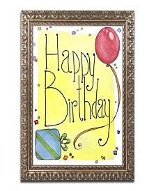 """Jennifer Nilsson Happy Birthday Ornate Framed Art - 11"""" x 14"""" x 0.5"""""""
