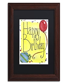 "Jennifer Nilsson Happy Birthday Matted Framed Art - 11"" x 14"" x 0.5"""
