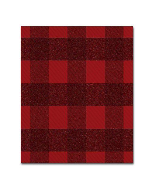 "Trademark Global Jennifer Nilsson Red Buffalo 1 Canvas Art - 35"" x 35"" x 2"""