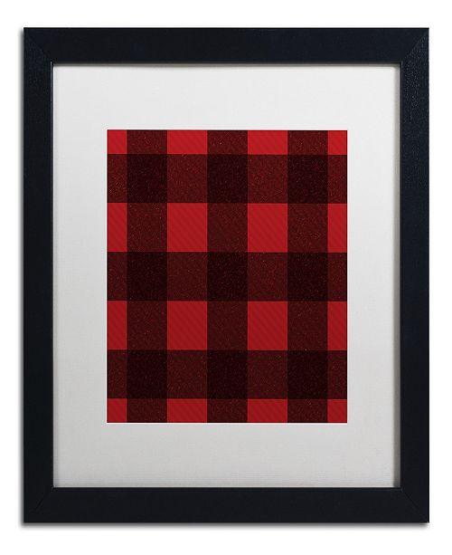"Trademark Global Jennifer Nilsson Red Buffalo 2 Matted Framed Art - 24"" x 24"" x 2"""