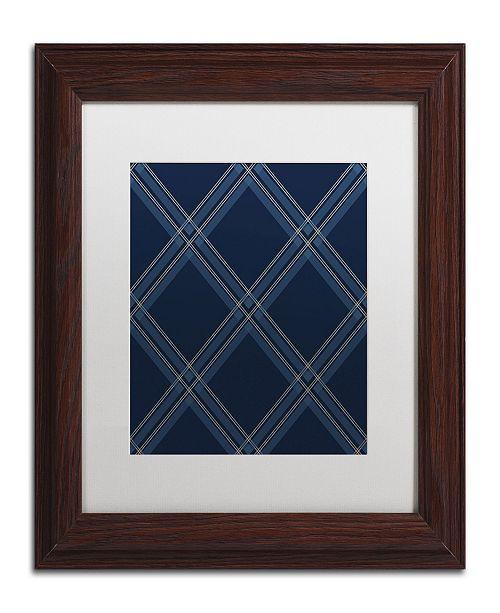 "Trademark Global Jennifer Nilsson Dk Blue Diamond Matted Framed Art - 11"" x 14"" x 0.5"""