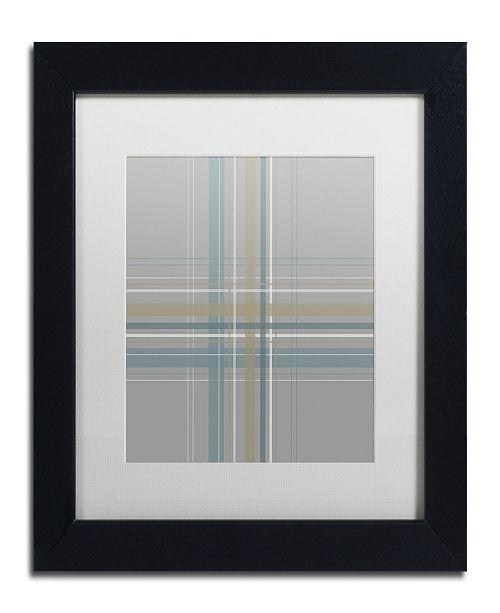 "Trademark Global Jennifer Nilsson Silver Blue Matted Framed Art - 14"" x 14"" x 2"""